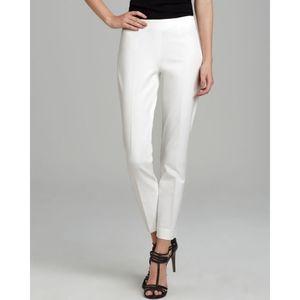 Theory Belisa Monaco Slim Ankle Pants White